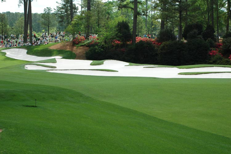 Masters. Fairway at Augusta, consistently one of the best places to golf in the world