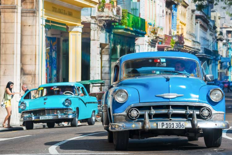 Old car on the streets of Havana