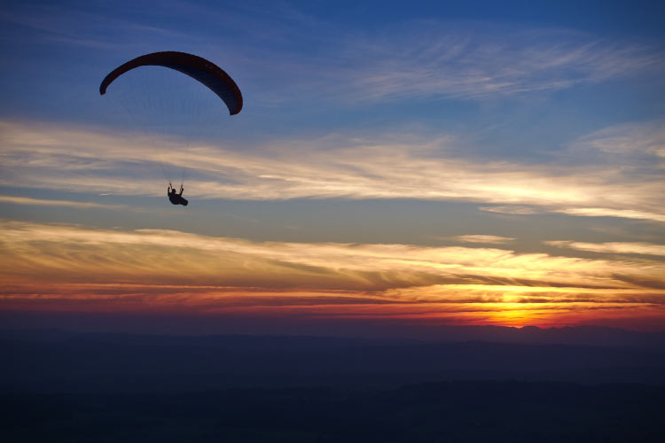 Paragliding Sunset in Switzerland