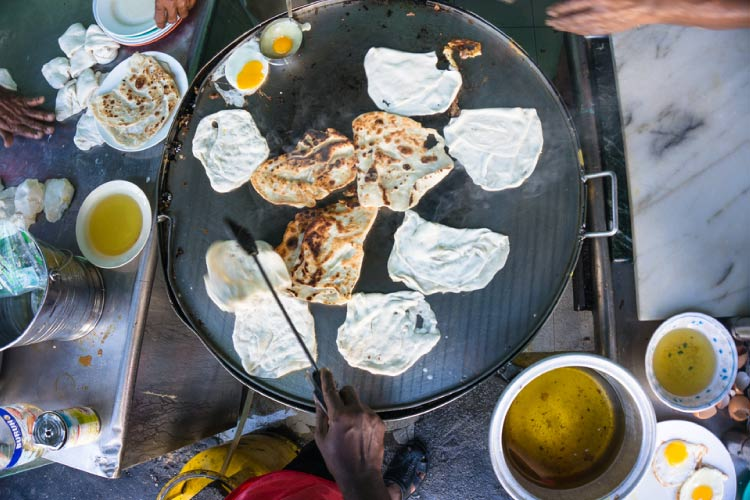 Roti Bread cooking in India