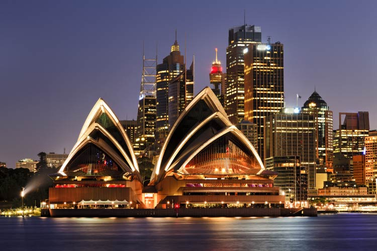 Sydney CBD Harbor and Sydney Opera House
