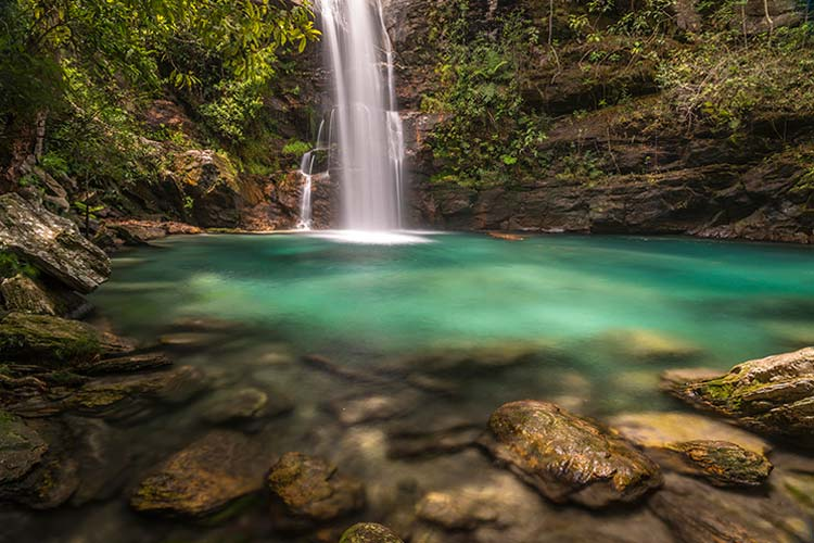 Waterfall in Chapada dos Veadeiros National Park, Brazil