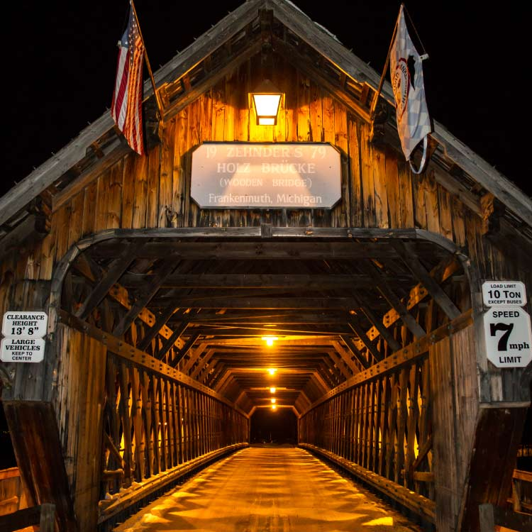 Wooden Bridge by Night