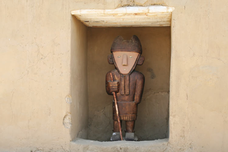 An ancient statue found at the ancient city of Chan Chan