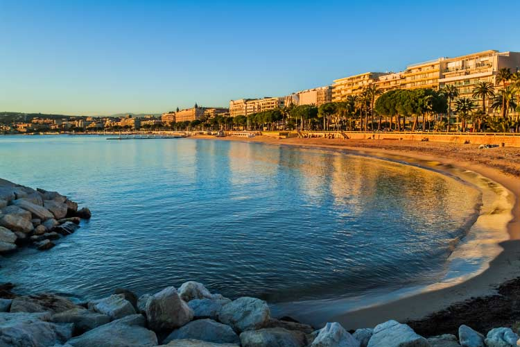 Cannes Bay in Alpes Maritimes, French Riviera