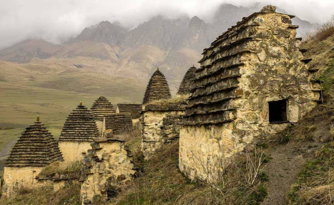 City of the Dead in Northern Ossetia, Russia