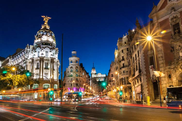Gran via street, Madrid