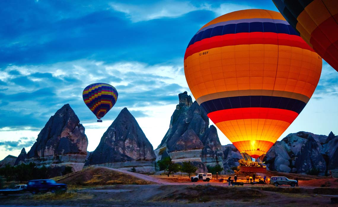Hot Air Balloon launch in Goreme, Cappadocia