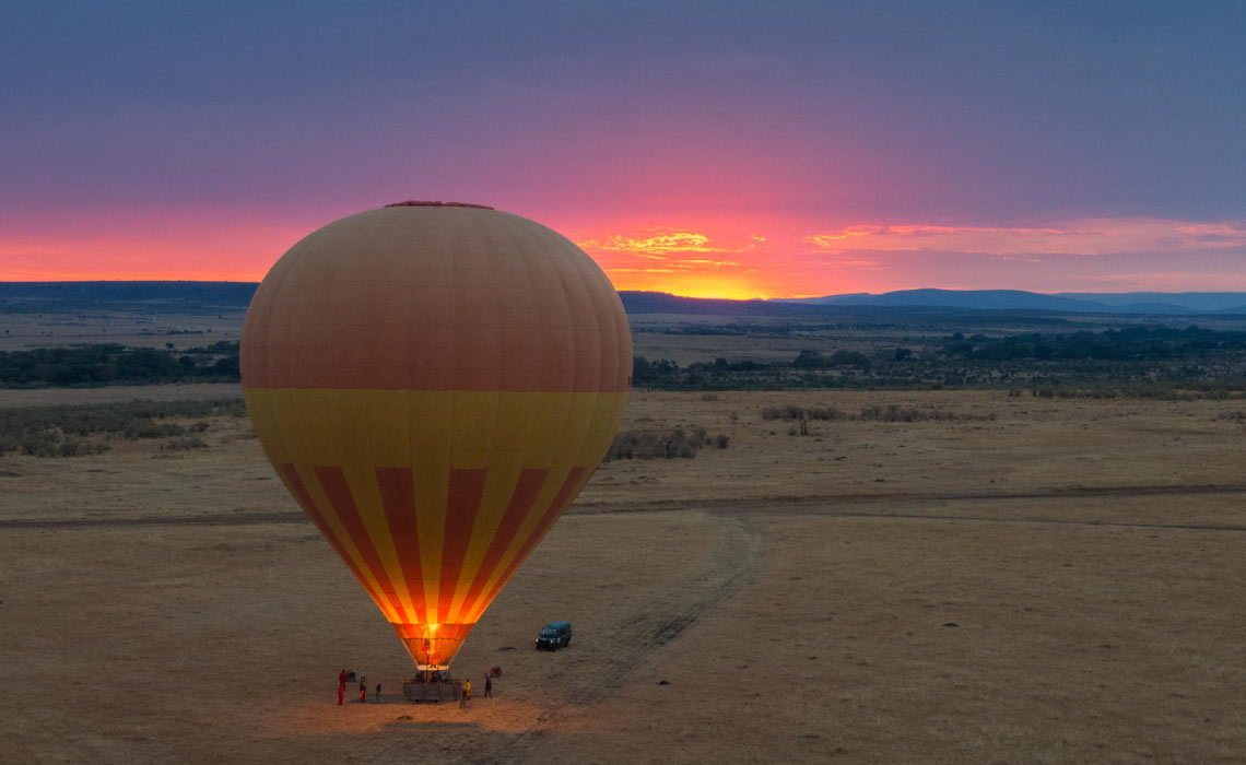 Morning Balloon in Masaai Mara
