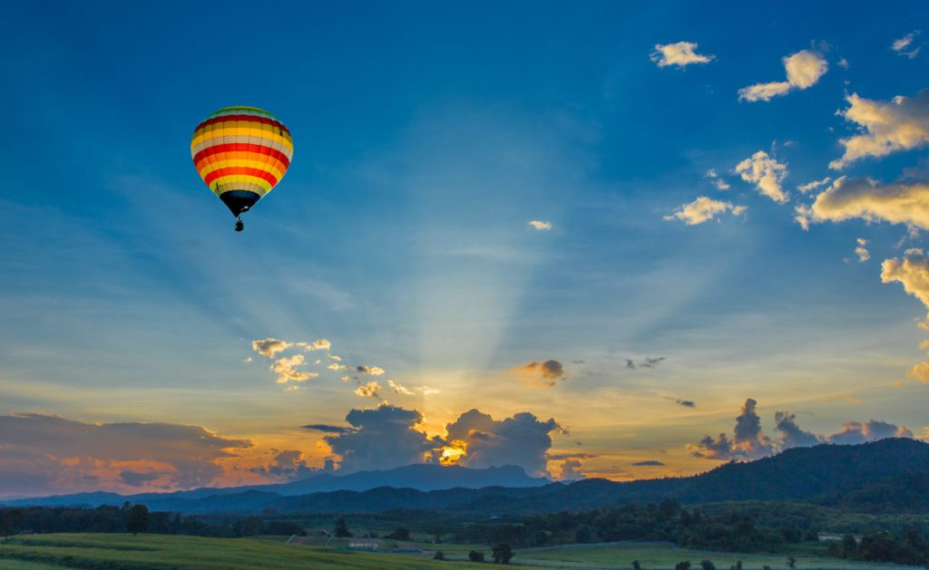 Sunrise Balloon Ride, Kenya