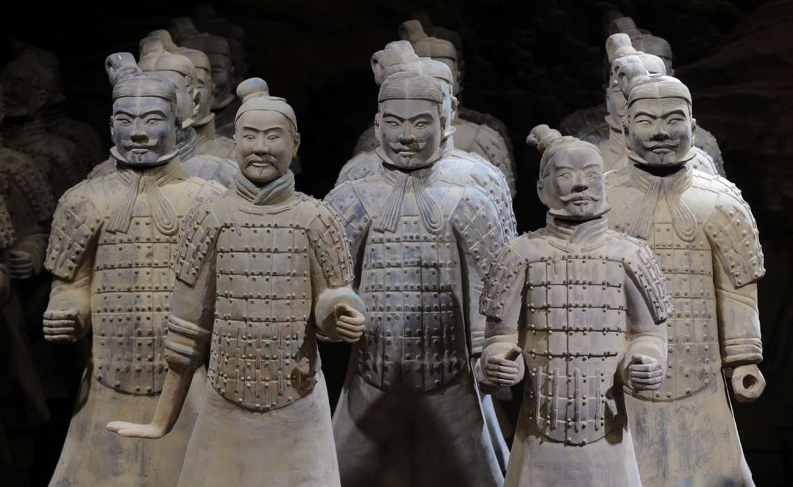 Terracota Warriors, China the end of the Silk Road