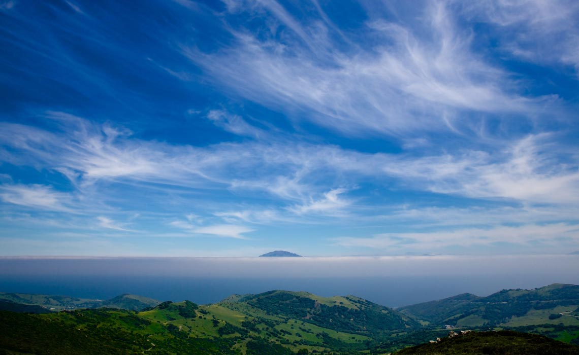 View from the Mirador del Estrecho in Spain across the Strait of Gibraltar to Africa