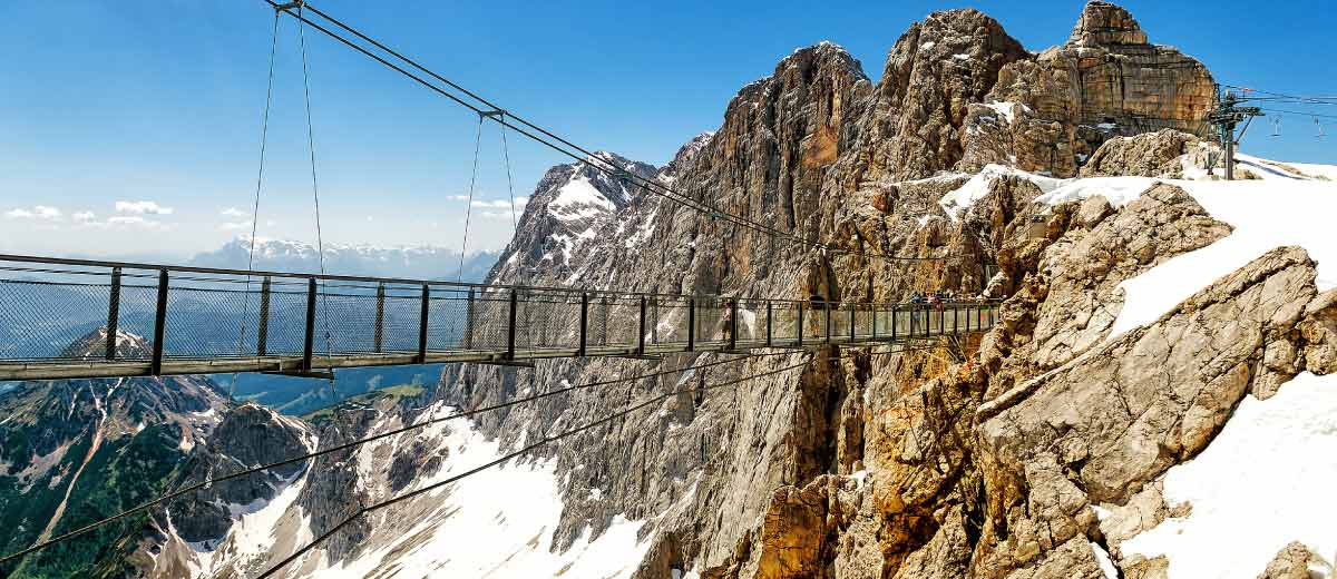 Skywalk in Dachstein Glacier in Austria