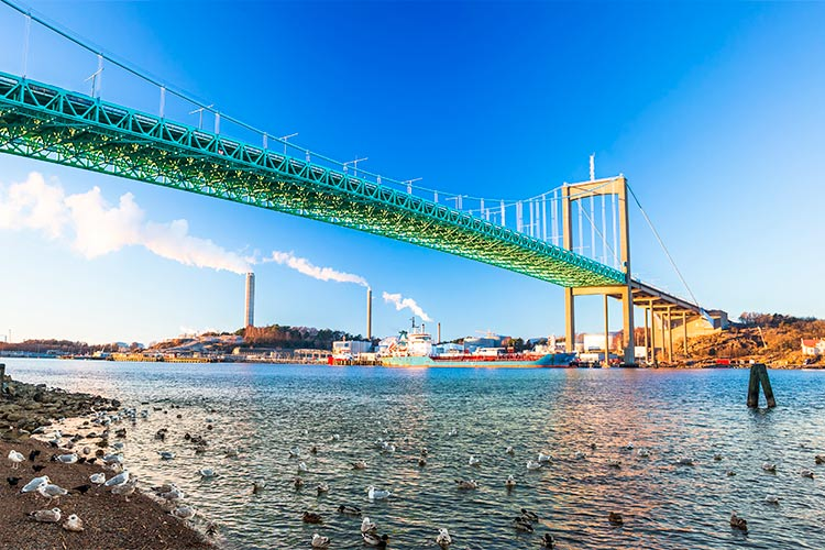 Alvsborg bridge in Goteborg, Sweden