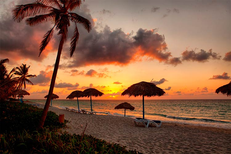Beach at sunset, Varadero