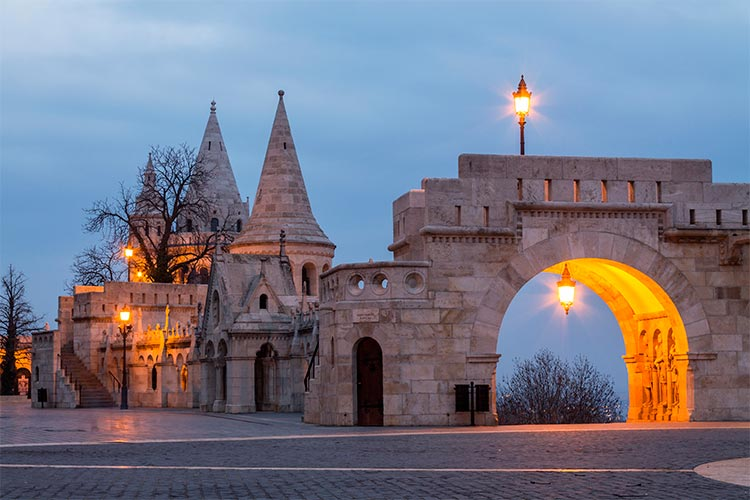Fisherman's Bastion in the morning on Budapest, Hungary