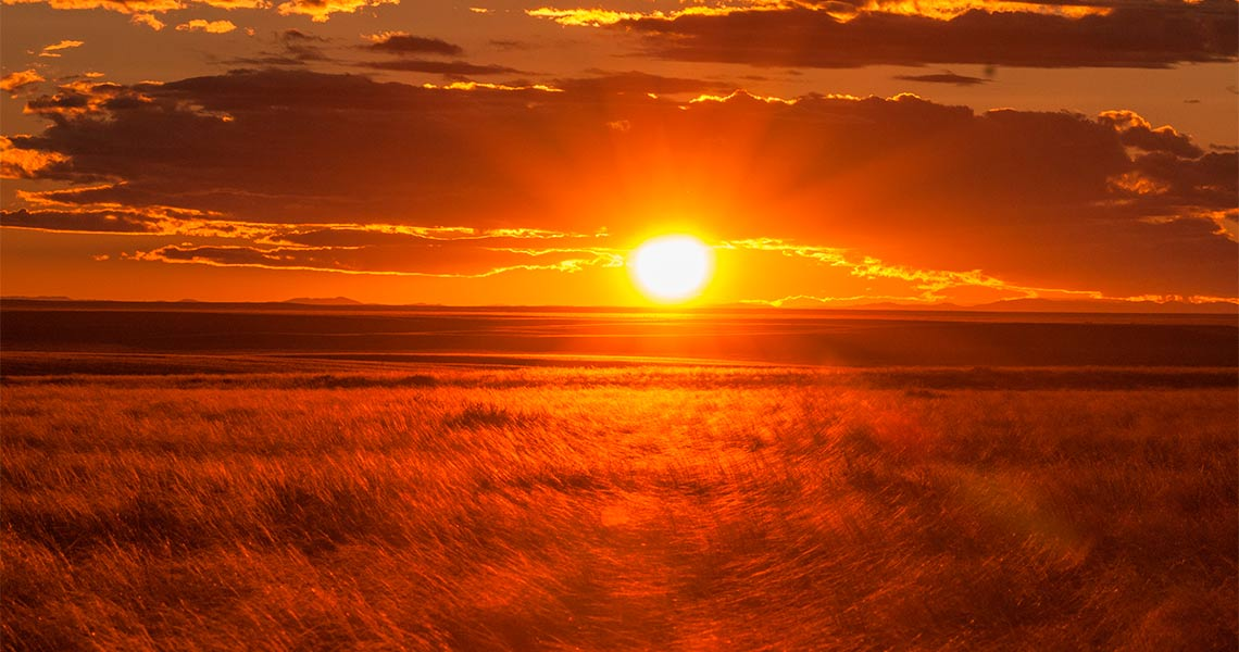 Sunset in Mongolia