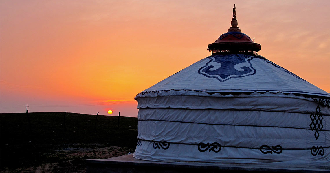 Sunset in inner Mongolia