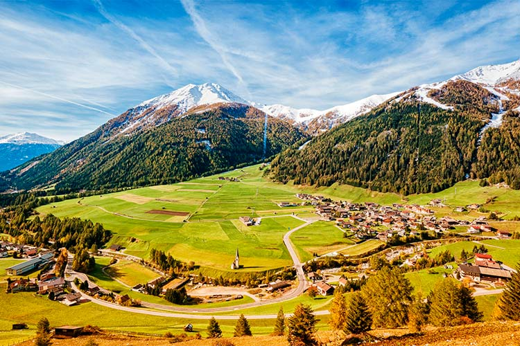 Valley in Austria near the Grossglockner Mountain