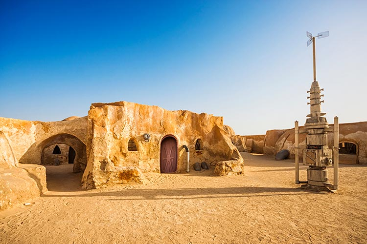 Abandoned Set of Star Wars in the Sahara Desert