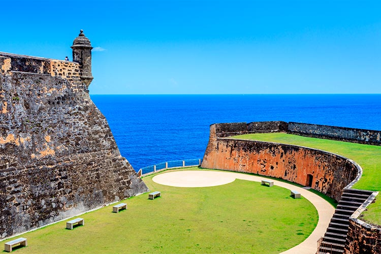 Castle at Old St Juan Puerto Rico