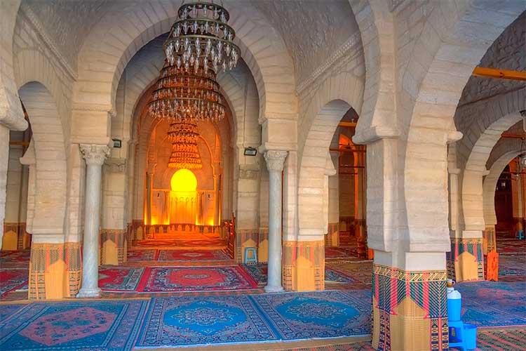 Interior of the Great Mosque in Sousse