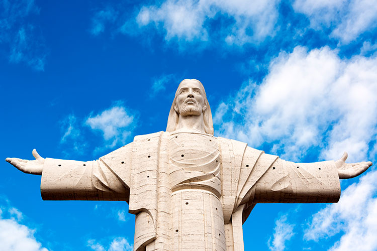 Largest statue of Jesus Christ in the world, the Cristo de la Concordia in Cochabamba, Bolivia
