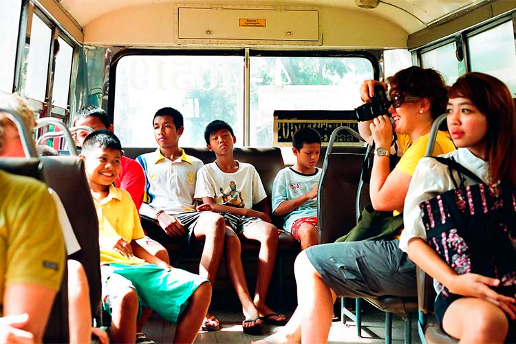 On the Bus in Bangkok