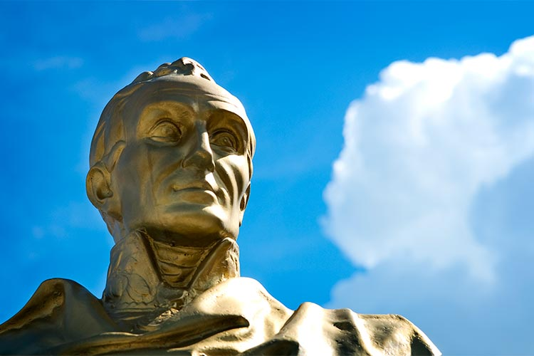 Sculpture of Simon Bolivar in Caracas Venezuela