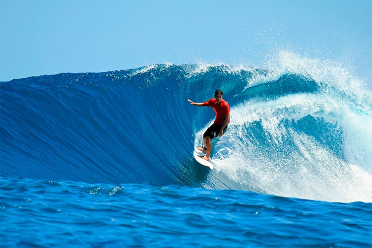 Surfer in the Mentawai Islands