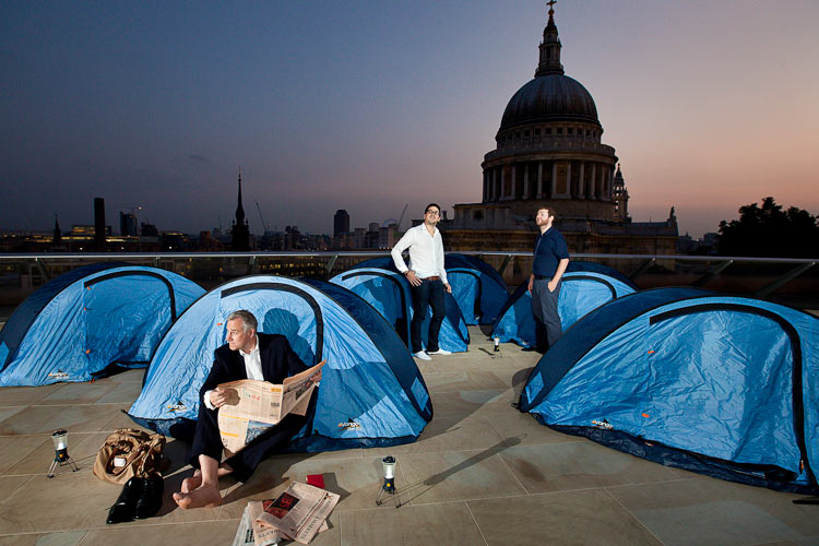 You can still read the financial times while camping!