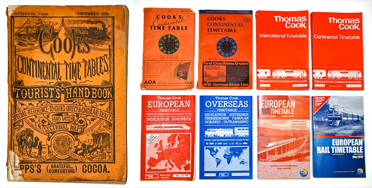 Historic Covers of Thomas Cook's Continental Timetable