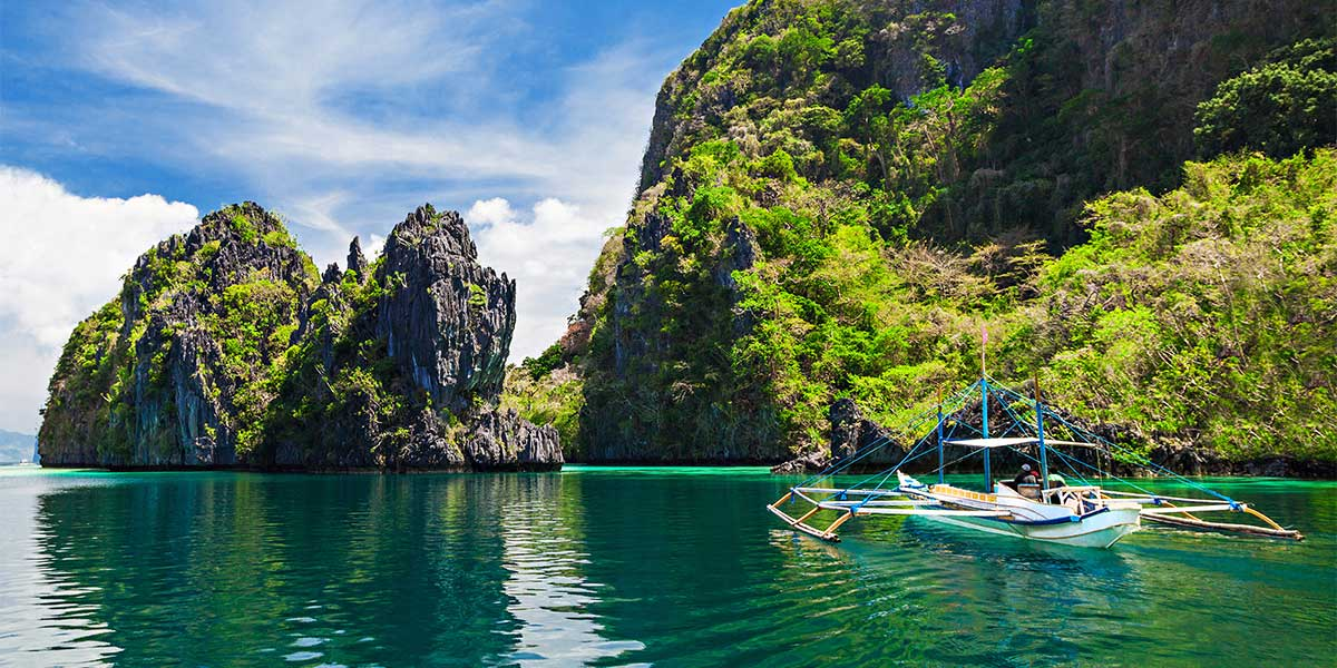 Beautiful Lagoon in the Philippines