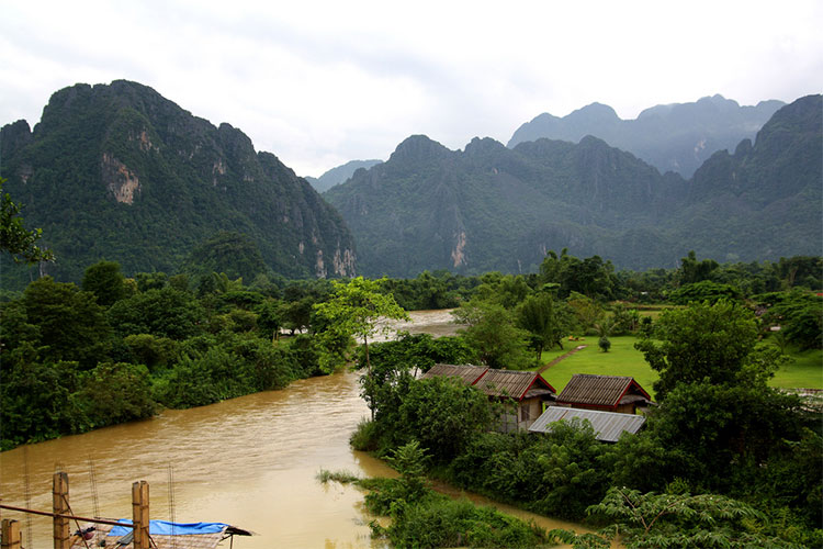 Beautiful Outdoor Setting in Vang Vieng