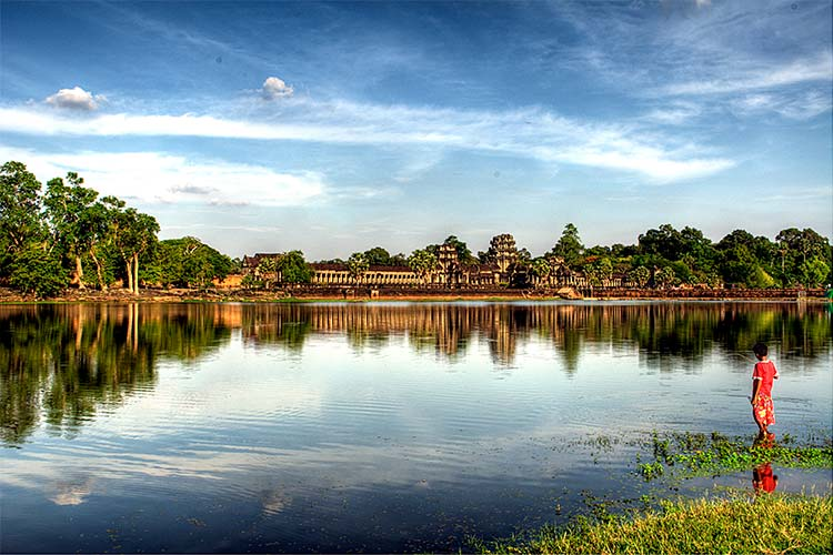 Fishing Time at Angkor temples