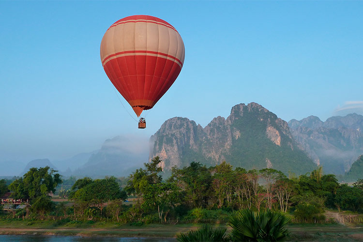 Hot Air Balloon Ride in Northern Laos
