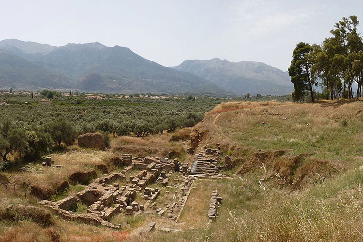 The ruins of the ancient town of Sparta