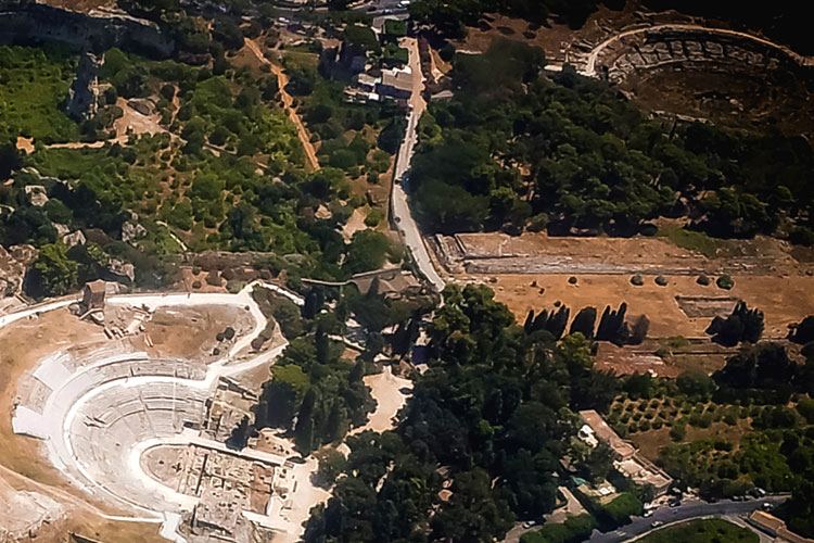 Bird's eye view of the Neapolis Archaeological Park