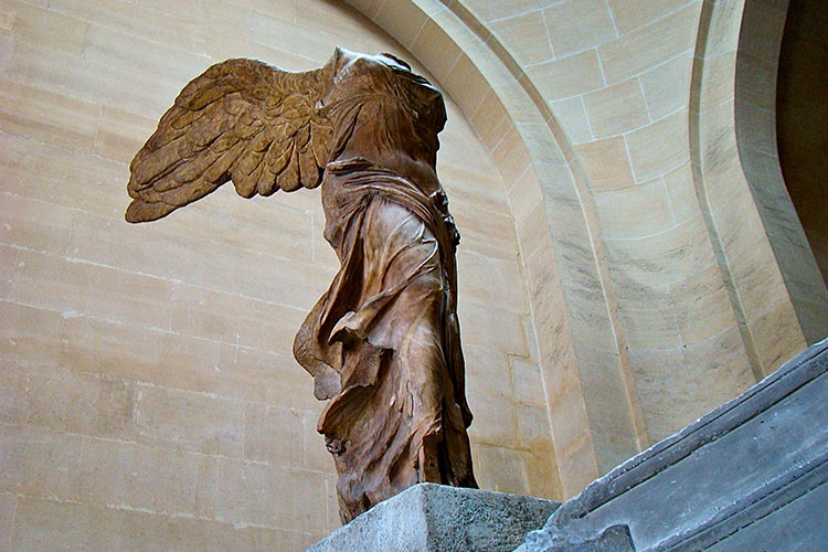 The Nike of Samothrace in The Louvre, Paris