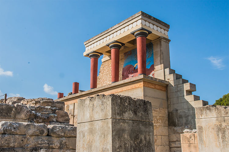 The Palace of Knossos on Crete