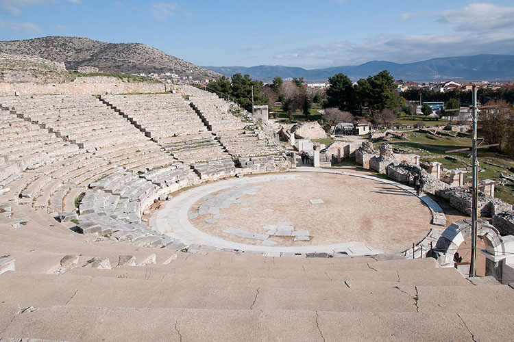 A Greek theatre at The Archaeological Site of Philippi