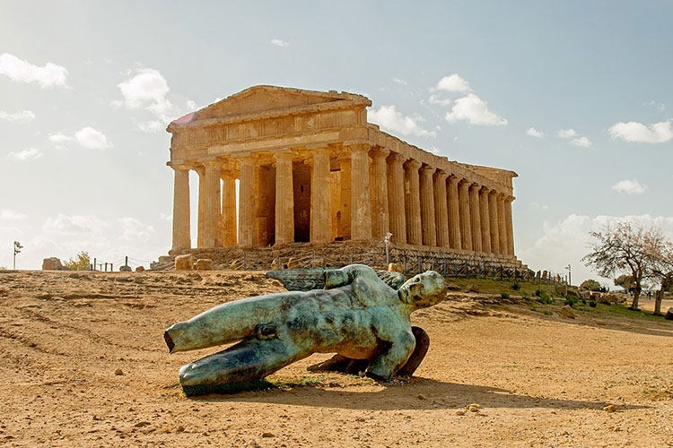 Parthenon and Sculpture at Valley of the Temples