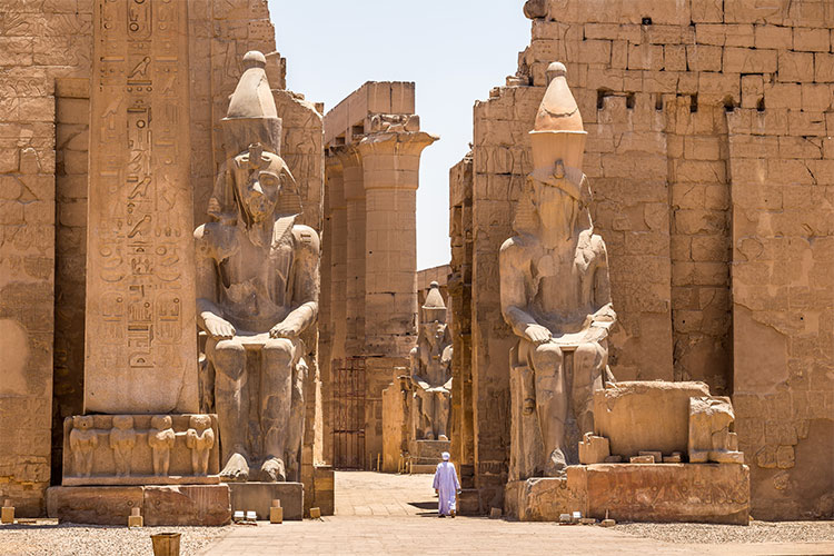 Pharaoh Rameses II Statue in Luxor Temple