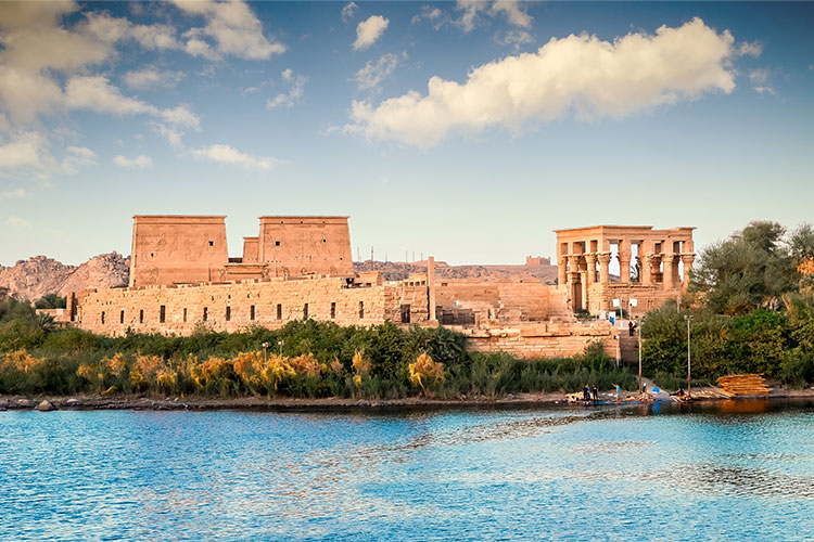 Temple of Philae, First Cataract of the Nile in Upper Egypt