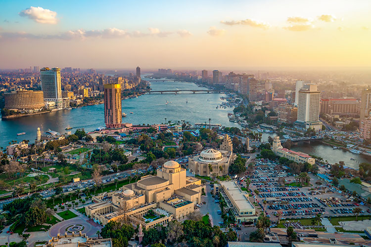 Cairo Cityscape with The River Nile