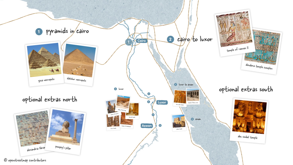 Road Trip from Cairo to Aswan with photos of the most famous sites