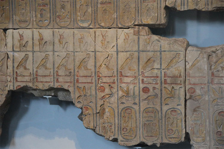 Part of List of Egyptian Kings from Temple of Rameses II, Abydos