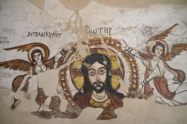 Part of a mural from the Monastery of Saint Apollo at Bawit, Coptic Museum, Cairo